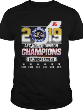 Baltimore Ravens Afc North Division Champions 2019 shirt