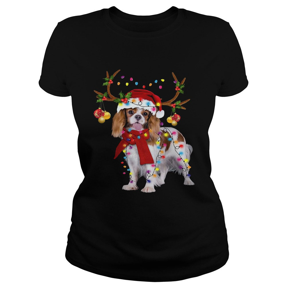 Cavalier King Gorgeous Reindeer Christmas Classic Ladies