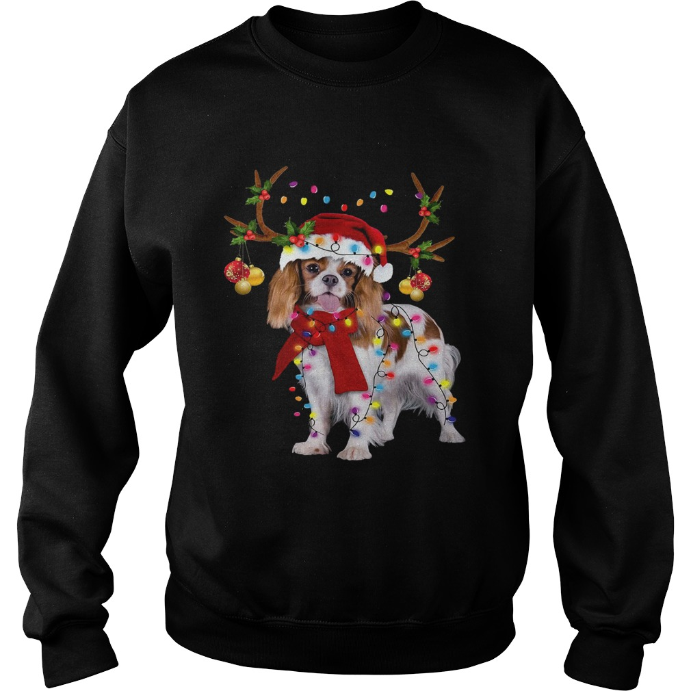 Cavalier King Gorgeous Reindeer Christmas Sweatshirt