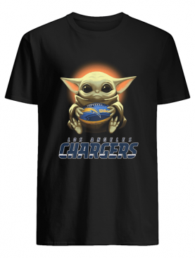 Baby Yoda Hugs Los Angeles Chargers Ball shirt