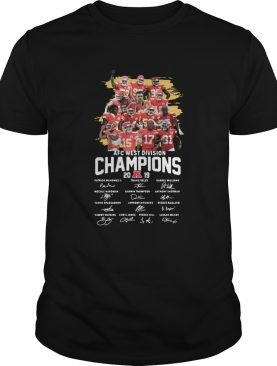 Kansas City Chiefs 2019 AFC West Division Champions Signatures shirt