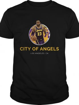 LeBron James Los Angeles Lakers 23 city of angels shirt