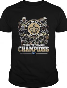 New Orleans Saints 2019 NFC south division Champions signatures shirt