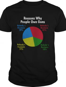 Reasons Why People Own Guns shirt