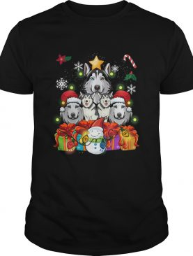 Siberian Husky Christmas Tree Decor Gift Paws Xmas shirt