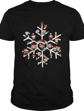 Snow flower Harry Potter chibi character Christmas shirt