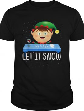 Walmart Cocaine Santa ELF Let It Snow shirt