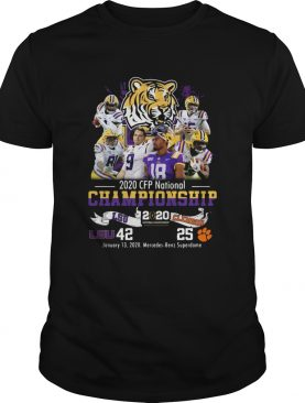 2020 CFP National Championship LSU 42 Clemson 25 shirt