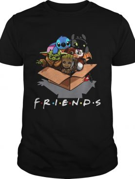 Baby Groot Baby Stitch And Baby Toothless Baby Yoda Baby Gizmo Friends shirt