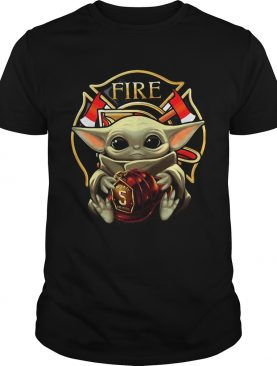 Baby Yoda Hug Firefighter Captain shirt