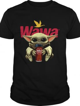 Baby Yoda Hug Wawa Coffee shirt