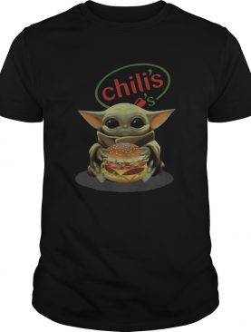 Baby Yoda Hugging Chilis Burger shirt