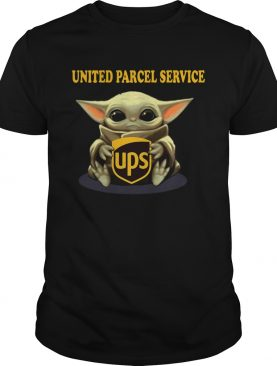 Baby Yoda Hugging United Parcel Service shirt