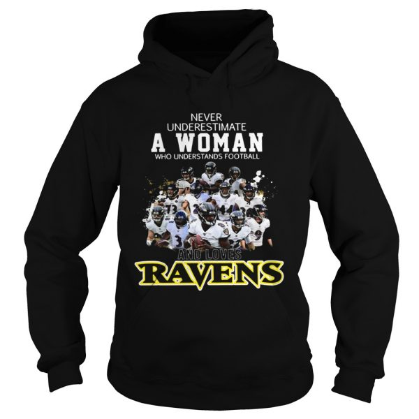 Never underestimate a woman who understands football Ravens  Hoodie