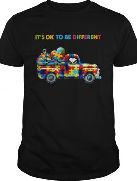 Snoopy driving Autism its ok to be different shirt