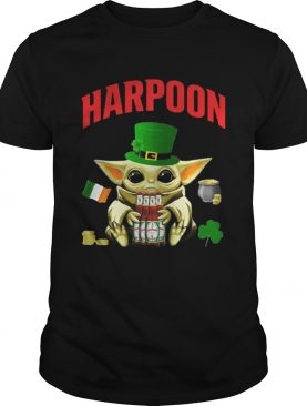 St Patricks Day Baby Yoda Hugging Celtic Ale Beer Harpoon shirt