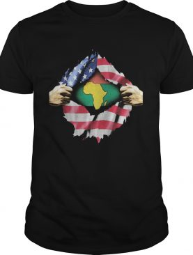 African Blood Inside My American shirt