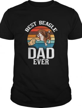 Best Dog Dad Ever Beagle Vintage Dog Lovers shirt