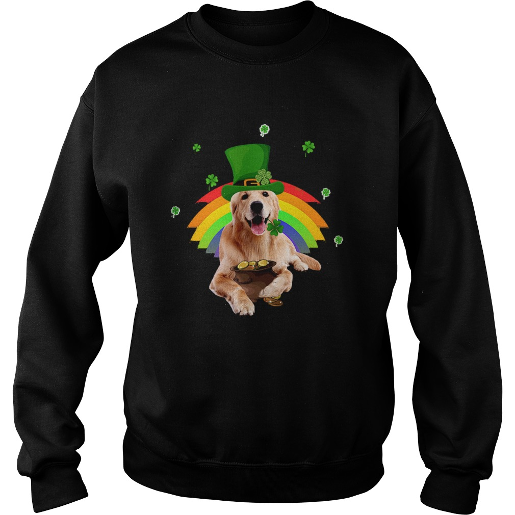 Golden Retriever St Patricks day Sweatshirt
