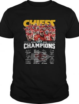 Kansas City Chiefs Super Bowl Champions Signatures shirt