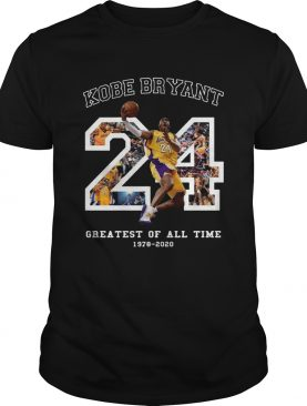 Kobe Bryant Greatest Of All Time Basketball Moments Tribute Los Angeles Number 24 shirt