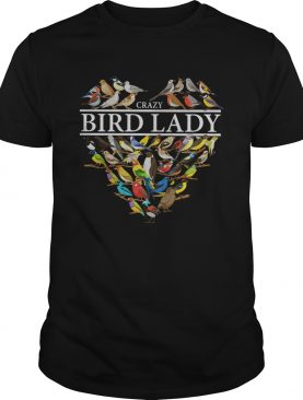 Love Crazy bird lady heart shirt