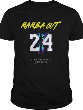 Mamba Out 24 RIP Kobe Bryant logo Black Mamba 1978 2020 shirt