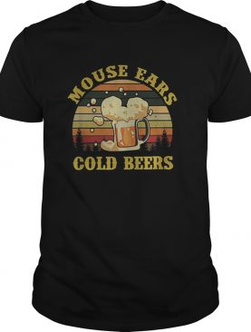Mouse Ears Cold Beers Drinking Vintage shirt