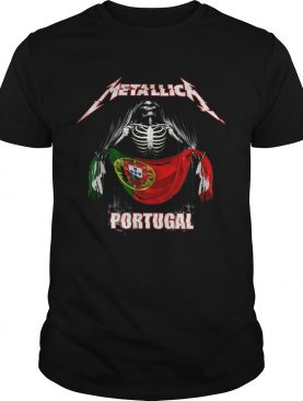 Skeleton Metallica Portugal Flag shirt