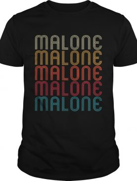 Vintage Style Name Gift Malone shirt
