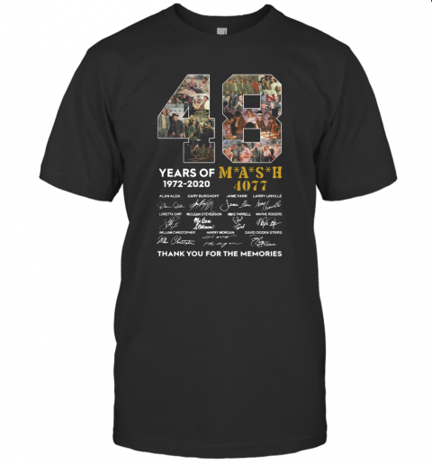 48 Years Of 1972 2020 Mash 4077 Signatures Thank You For The Memories T-Shirt Classic Men's T-shirt