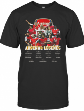 Arsenal Legends Football Players Signatures T-Shirt
