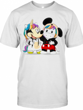 Baby Mickey Mouse And Baby Unicorn T-Shirt