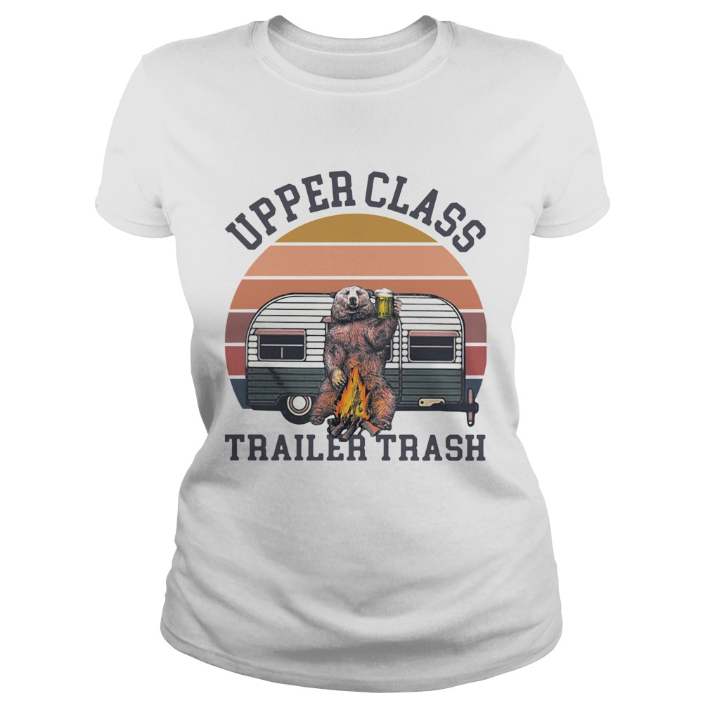 Bear Camping Upper Class Trailer Trash Vintage Classic Ladies