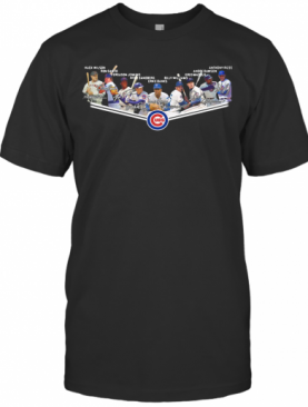 Chicago Cubs Players Team Signature T-Shirt