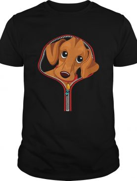 Dachshund Out Of A Zipper shirt