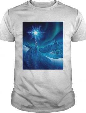 Disney Frozen Elsa Snowflake in the Sky Poster shirt