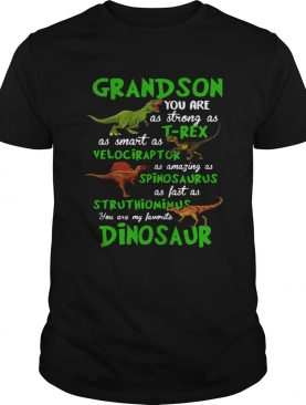 Grandson You Are As Strong As Trex As Smart As Velociraptor As Amazing As Spinosaurus Dinosaur shirt