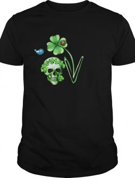 Love Skull Shamrock bird shirt