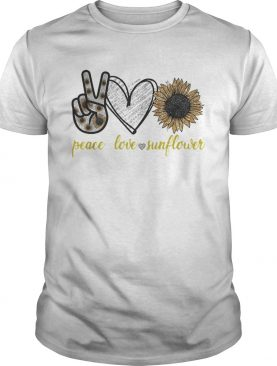 Peace love sunflower shirt