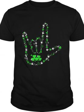 St Patricks Day Asl American Sign Language Lover Gift shirt