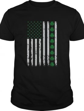 St Patricks Day IRISH AMERICAN Shamrock Flag shirt