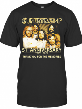 Supertramp 51St Anniversary 1969 2020 Thank You For The Memories T-Shirt