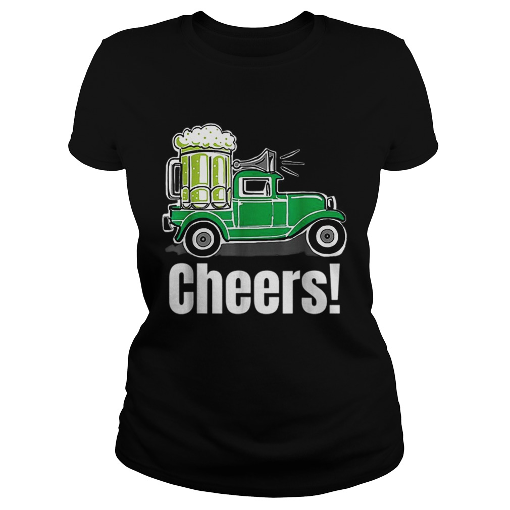 Truck Green Beer St Patricks Day Classic Ladies