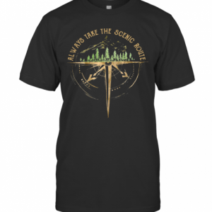 Always Take The Scenic Route Camping T-Shirt Classic Men's T-shirt