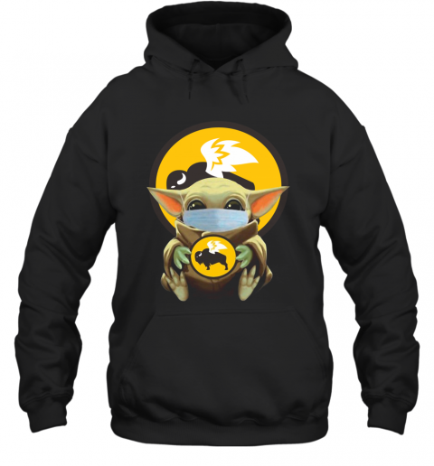 Baby Yoda Face Mask Hug Buffalo Wild Wings T-Shirt Unisex Hoodie