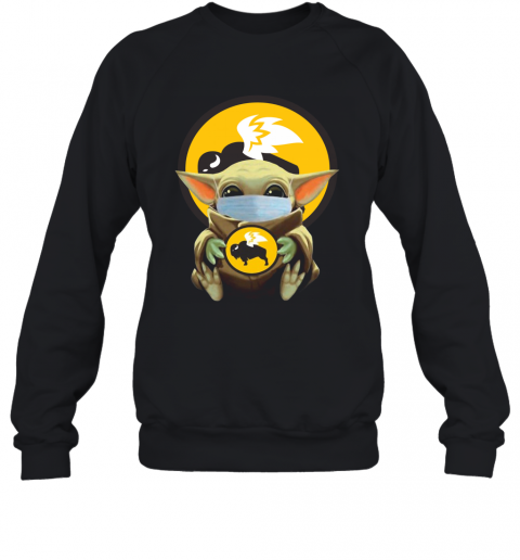 Baby Yoda Face Mask Hug Buffalo Wild Wings T-Shirt Unisex Sweatshirt