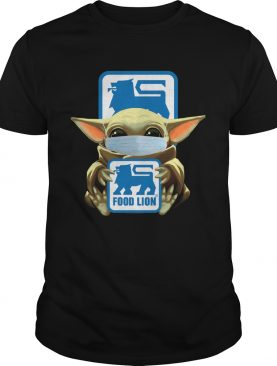 Baby Yoda Mask Hug Food Lion shirt