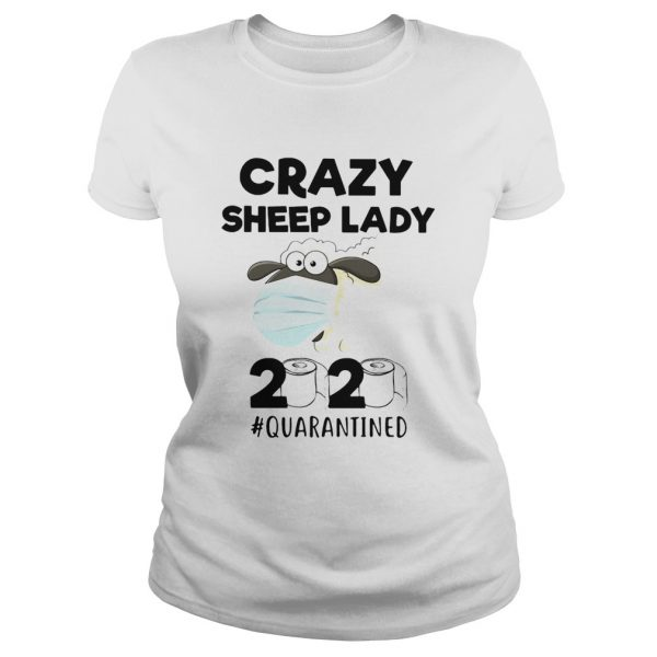 Crazy Sheep lady mask 2020 quarantined toilet paper  Classic Ladies