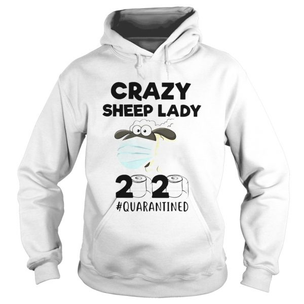 Crazy Sheep lady mask 2020 quarantined toilet paper  Hoodie